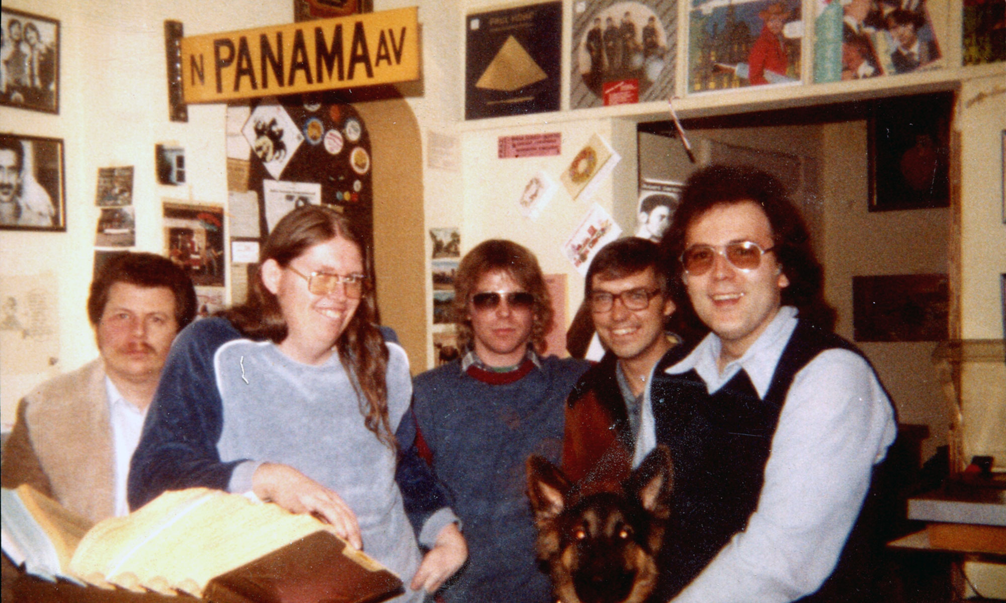 Bob, Kevin, CJ, Rick, Crunch and me, 1980's