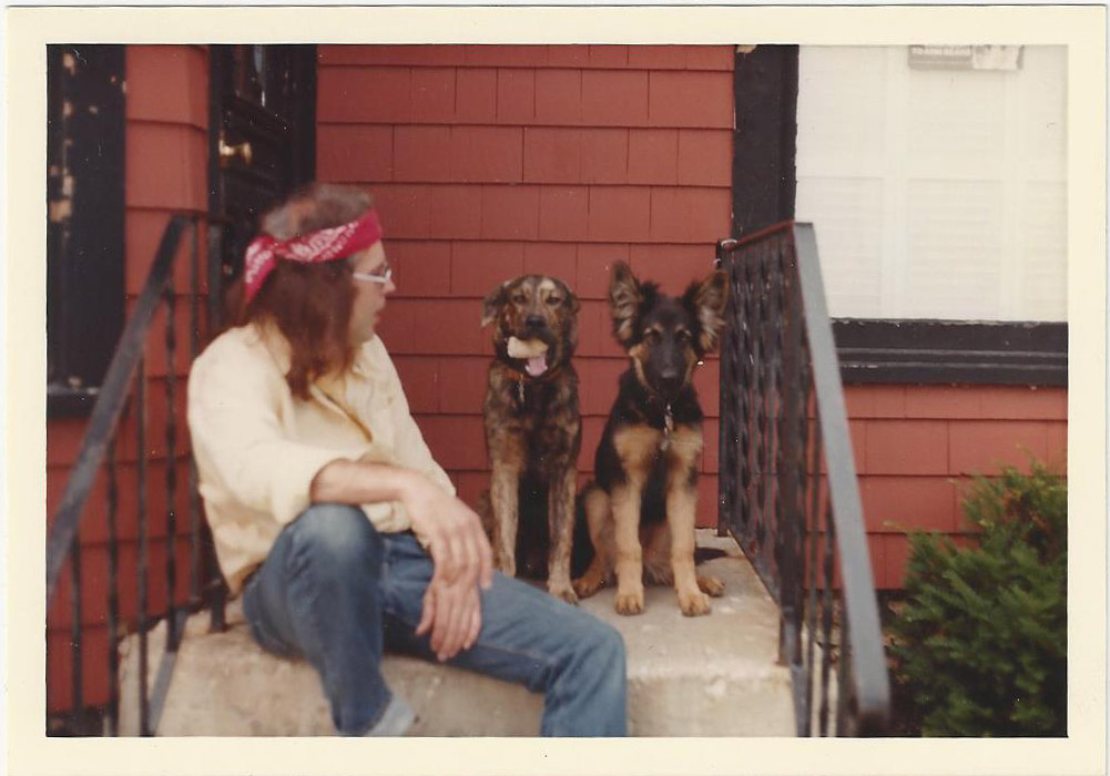 Early store photo of me hanging out with Barrett and Crunch, circa 1980