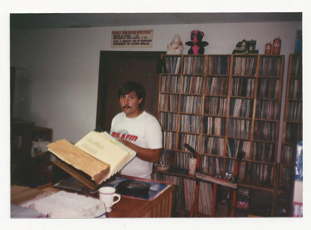 Jeff began shopping the Cyrkle soon as I opened when he was in high school. Remained forever and established himself as the first and longest lasting regular customer. Started his DJ service and became one of the best at spinnin' the vinyl.